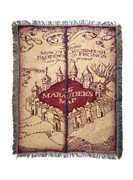harry potter marauder u0027s map woven tapestry throw blanket topic