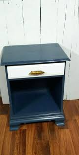 painted night stands on painted dark navy blue nightstand w white
