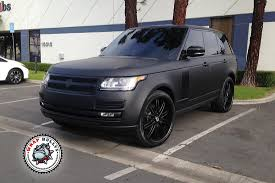 matte pink range rover range rover autobiography wrapped in 3m deep matte black car wrap