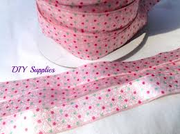 headband supplies 5 8 pink polka dot fold elastic foe wholesale headband