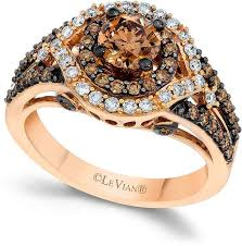 levian engagement rings le vian chocolate and white diamond engagement ring in 14k