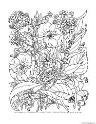 savage flowers coloring pages printable