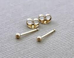 tiny gold stud earrings tiny gold studs etsy