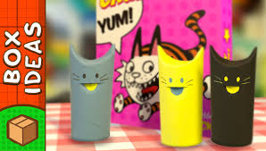 diy cat toy food dispenser toilet roll crafts for kids on box