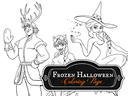 frozen halloween coloring pages u2013 halloween wizard