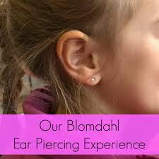 ear piercing earrings our blomdahl ear piercing experience a nation of