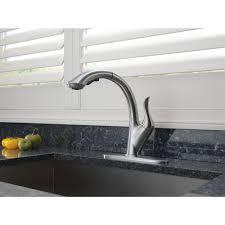 delta linden kitchen faucet delta faucet 4153 dst linden polished chrome pullout spray kitchen
