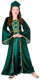 medieval tudor princess girls fancy dress childs book character