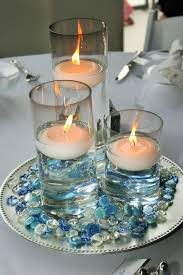 Wedding Candle Holders Centerpieces by 3 Glass Cylinder Wedding Centerpiece With Floating Candles