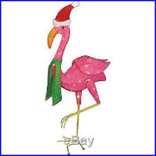 Outdoor Indoor Christmas Decoration 32 Lighted Flamingo Holiday