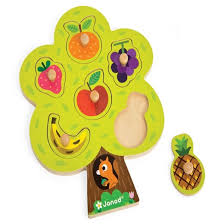 janod fruit tree wooden puzzle target