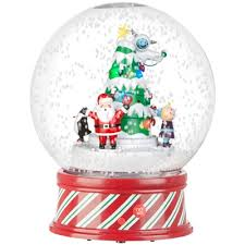animated snow globe ski slope