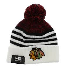 Chicago Flag Hats Chicago Blackhawks The Snowfall Stripe Beanie Team Colors By New
