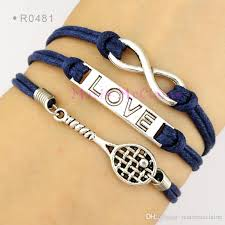 charm bracelet infinity images Infinity love tennis racket charms bracelets tennis racquet jpg