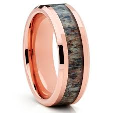 deer antler wedding band deer antler wedding band gold tungsten antler wedding
