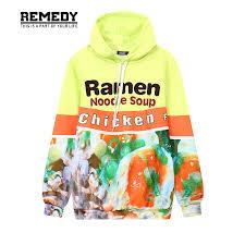 autumn ramen noodle soup chicken foods 3d graphic print men hooded