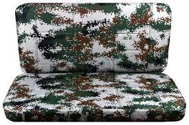 digital camo seat covers