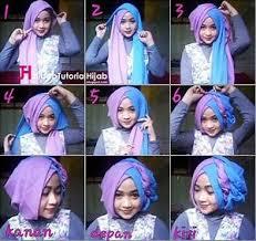 tutorial jilbab segi 4 untuk kebaya tutorial hijab segi empat 2 warna untuk pesta pernikahan 35