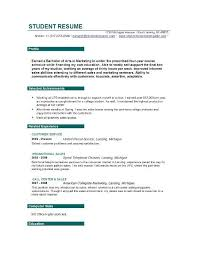 Resume Profile Examples For College Students by High College Resume High Student Resume Template U7d