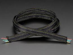 fabric ribbon fabric ribbon 4 channel wire 1 yard id 1373 5 95 adafruit