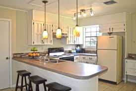 white tile wall backsplash idea decorate kitchen counter corner