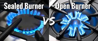 open vs sealed burners appliances connection