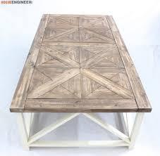 diy parquet x brace coffee table coffee table plans table plans