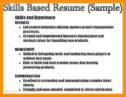 skill based resume exles sle skills section of resume