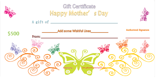 free mothers day gift certificate clipart card clipart