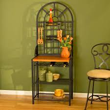 Metal And Wood Bakers Rack Fabulous Kitchen Bakers Racks Hutch Kitchen Bakers Racks S