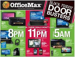 officemax black friday deals ad scan hours doorbusters