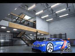 renault alpine interior garage 01 and renault alpine concept 3d cgtrader