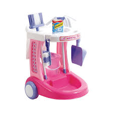 Cleaning Games For Girls Amazon Com My Cleaning Trolley By Just Kidz Toys U0026 Games