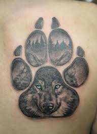 best wolf paw tattoo design ideas 2018