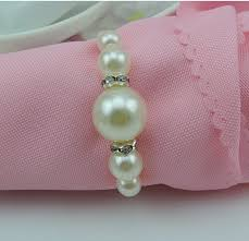 where to buy wedding supplies wholesale shiny pearls napkin rings for wedding supplies party table