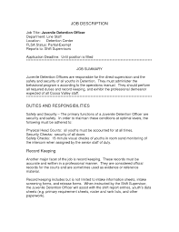 Security Guard Job Duties For Resume Correctional Officer Job Description Resume Free Resume Example