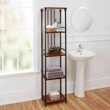 Shelving For Bathrooms Free Standing Bathroom Shelving You Ll Wayfair