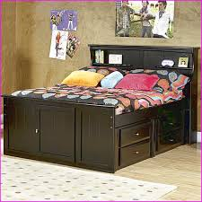 full size bed frame with bookcase headboard 5880