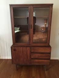 Curio Cabinets Richmond Va Mid Century Modern Curio Cabinet By Stanley At Epoch