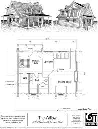 cottage plans with lofts modern stylish idea cottage plans with lofts cabin floor loft log cabins
