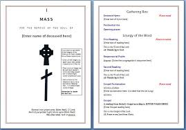 funeral programs sles beautiful catholic church wedding program template pictures