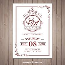 What To Write On A Wedding Invitation Set Of Wedding Invitations Vector Free Download