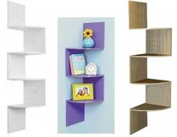 zig zag corner wall shelf foter