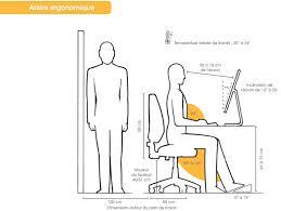hauteur de bureau de travail ergonomie de espace bureau