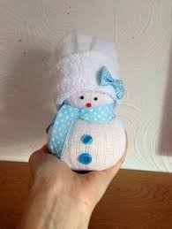Diy Sock Snowman Make An Upcycled Sock Snowman Christmas Crafting Pinterest