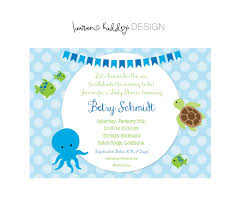 under the sea baby shower invites