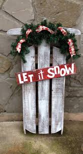 Christmas Decor Diy Ideas With Wood 302 Best Painted Sleds Images On Pinterest Christmas Crafts