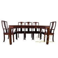 chinese antique rosewood dining table w 8 chairs set 17lp38
