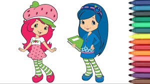 strawberry shortcake u0026 blueberry muffin friends coloring page for