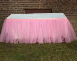 Pink Table Skirt by Lavender Tutu Table Skirt